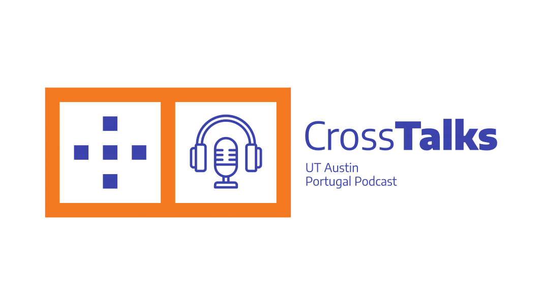 Illustration of the Cross Talks podcast. It reads